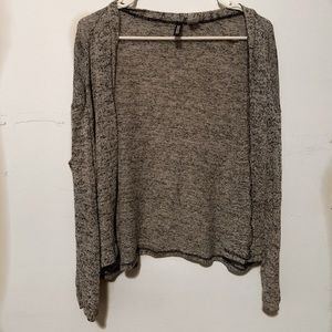H&M open drapey cardigan grey